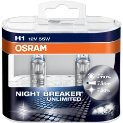 OSRAM H1 NIGHT BREAKER UNLIMITED Duo-Box